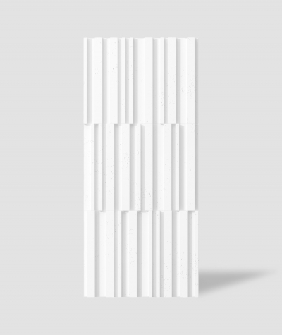 VT - PB42 (BS śnieżno biały) LAMEL - Panel dekor 3D beton architektoniczny