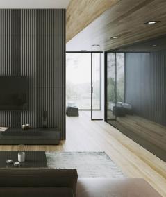 VT - PB41 (S50 light gray - mouse) LAMEL - 3D architectural concrete panel