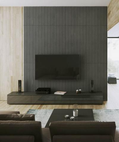 VT - PB41 (S96 dark gray) LAMEL - 3D architectural concrete panel