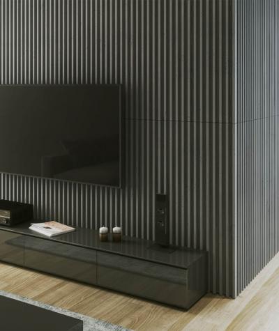 VT - PB41 (S95 light gray - dove) LAMEL - 3D architectural concrete panel