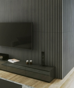 VT - PB41 (S96 ciemny szary) LAMEL - Panel dekor 3D beton architektoniczny