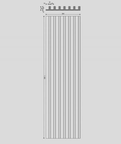 VT - PB41 (B0 white) LAMEL - 3D architectural concrete panel