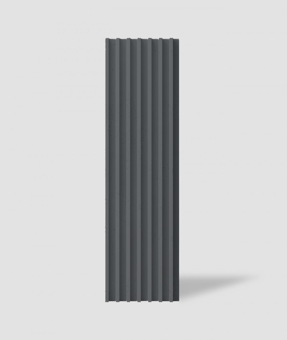 VT - PB41 (B15 czarny) LAMEL - Panel dekor 3D beton architektoniczny