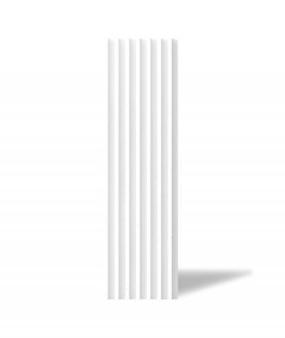 VT - PB41 (BS śnieżno biały) LAMEL - Panel dekor 3D beton architektoniczny
