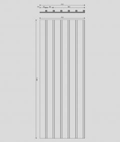 VT - PB40 (B1 siwo biały) LAMEL - Panel dekor 3D beton architektoniczny