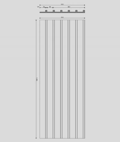 VT - PB40 (KS ivory) LAMEL - 3D architectural concrete panel