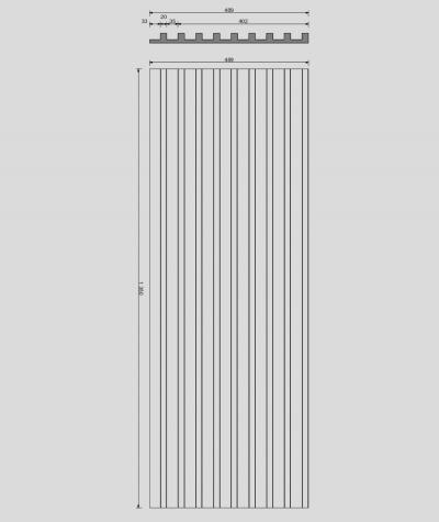 VT - PB39 (KS kość słoniowa) LAMEL - Panel dekor 3D beton architektoniczny