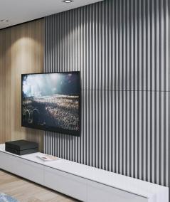 VT - PB39 (S50 light gray - mouse) LAMEL - 3D architectural concrete panel