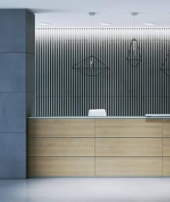 VT - PB39 (B1 gray white) LAMEL - 3D architectural concrete panel