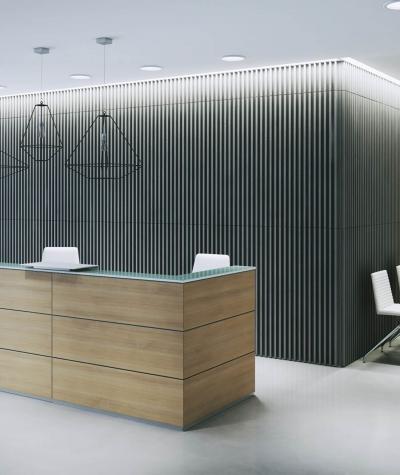 VT - PB39 (KS ivory) LAMEL - 3D architectural concrete panel