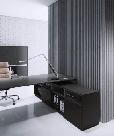 VT - PB39 (S51 dark gray - mouse) LAMEL - 3D architectural concrete panel