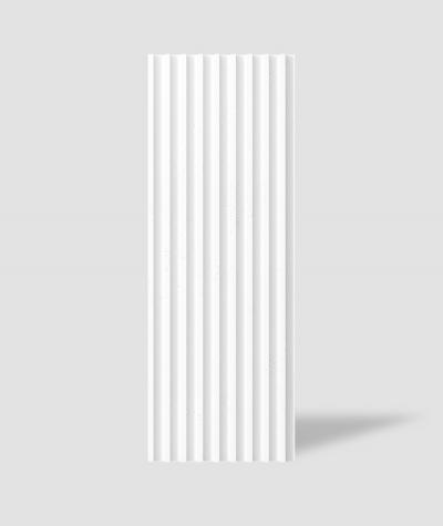 VT - PB39 (BS śnieżno biały) LAMEL - Panel dekor 3D beton architektoniczny