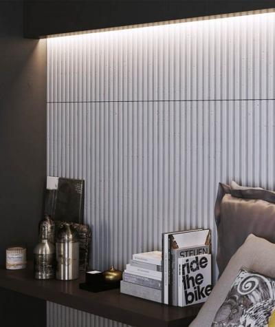 VT - PB38 (B1 gray white) LAMEL - 3D architectural concrete panel