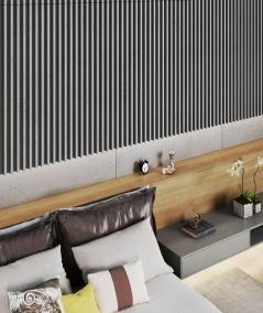 VT - PB38 (S95 light gray - dove) LAMEL - 3D architectural concrete panel