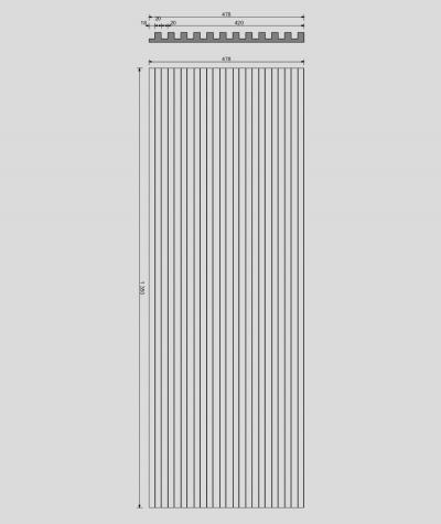 VT - PB38 (S96 dark gray) LAMEL - 3D architectural concrete panel