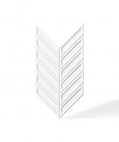 VT - PB50 (BS śnieżno biały) JODEŁKA - Panel dekor 3D beton architektoniczny