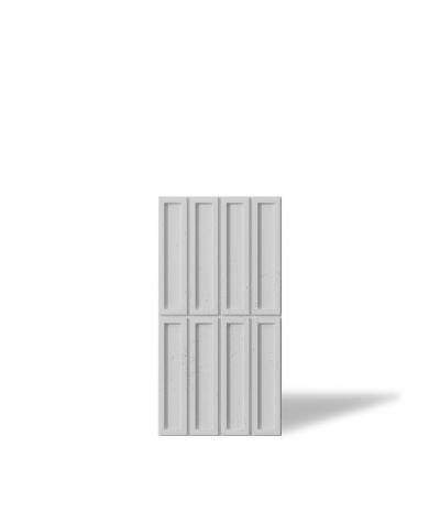 VT - PB51 (S50 light gray - mouse) RECTANGLES - 3D decorative panel architectural concrete