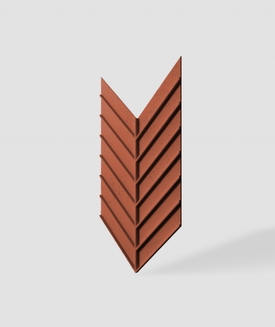 VT - PB45 (C4 brick) HERRINGBONE - 3D decorative panel architectural concrete