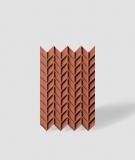 VT - PB49 (C4 ceglasty) JODEŁKA - Panel dekor 3D beton architektoniczny