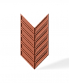 VT - PB50 (C4 brick) HERRINGBONE - 3D decorative panel architectural concrete