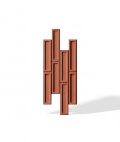VT - PB52 (C4 brick) RECTANGLES - 3D decorative panel architectural concrete
