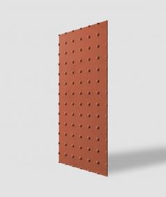 VT - PB55 (C4 ceglasty) KROPKI - Panel dekor 3D beton architektoniczny