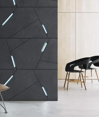VT - PB18 (B8 antracyt) SPACE - panel dekor 3D beton architektoniczny