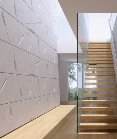 VT - PB18 (KS ivory) SPACE - 3D architectural concrete decor panel