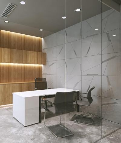 VT - PB18 (B0 white) SPACE - 3D architectural concrete decor panel