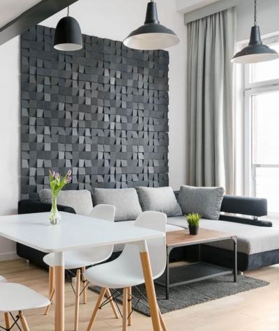 VT - PB15 (B8 antracyt) COCO - panel dekor 3D beton architektoniczny