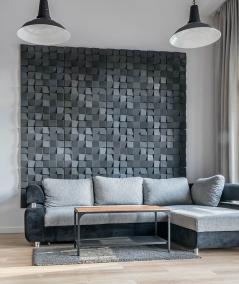 VT - PB15 (B8 anthracite) COCO - 3D architectural concrete decor panel