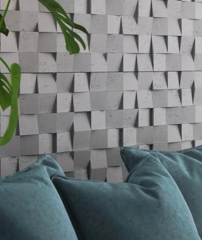 VT - PB15 (S95 light gray - dove) COCO - 3D architectural concrete decor panel