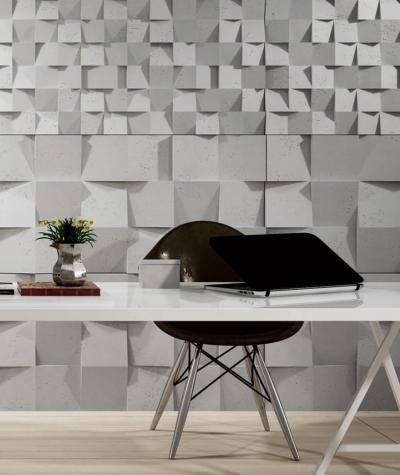 VT - PB15 (S50 light gray - mouse) COCO - 3D architectural concrete decor panel