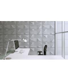 VT - PB07 (B0 biały) KRYSZTAŁ - panel dekor 3D beton architektoniczny