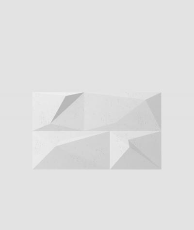 VT - PB07 (B1 siwo biały) KRYSZTAŁ - panel dekor 3D beton architektoniczny