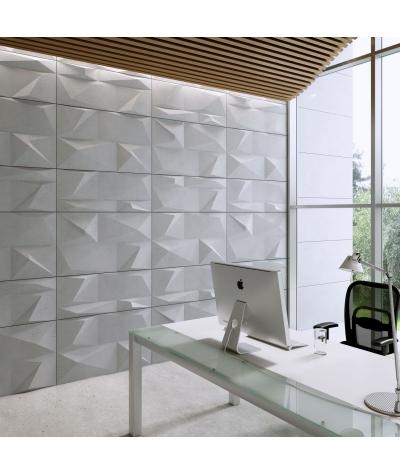 VT - PB07 (S50 jasny szary 'mysi') KRYSZTAŁ - panel dekor 3D beton architektoniczny
