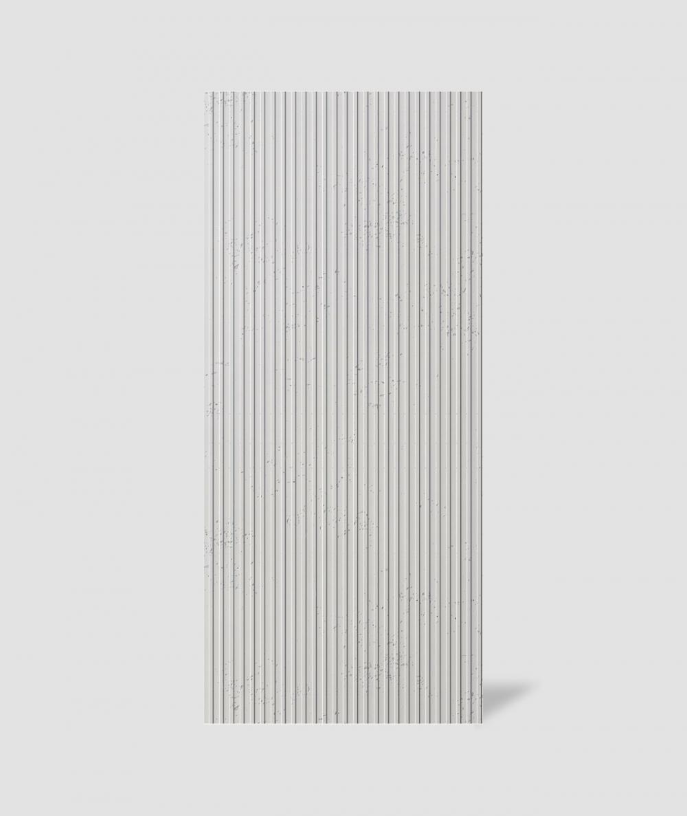 VT - PB37 (B0 white) LAMELLA - 3D architectural concrete decor panel