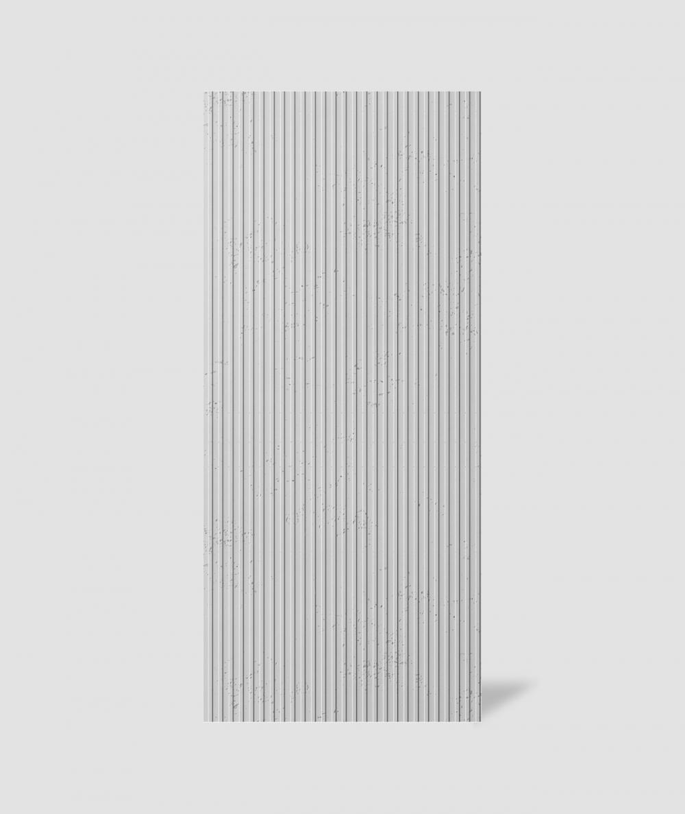 VT - PB37 (S50 light gray - mouse) LAMELLA - 3D architectural concrete decor panel
