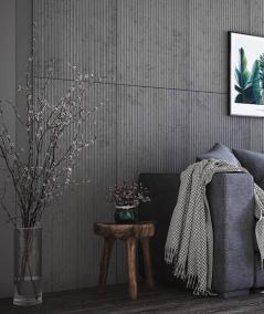 VT - PB37 (S51 dark gray - mouse) LAMELLA - 3D architectural concrete decor panel