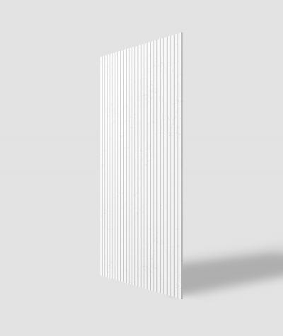 VT - PB37 (BS snow white) LAMELLA - 3D architectural concrete decor panel
