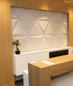 VT - PB36 (B1 siwo biały) TRIANGLE - Panel dekor 3D beton architektoniczny
