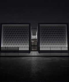 VT - PB36 (B1 gray white) TRIANGLE - 3D architectural concrete decor panel