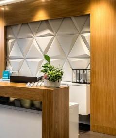 VT - PB36 (S95 light gray - dove) TRIANGLE - 3D architectural concrete decor panel