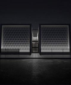VT - PB36 (S96 ciemny szary) TRIANGLE - Panel dekor 3D beton architektoniczny