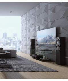VT - PB07 (S96 ciemny szary) KRYSZTAŁ - panel dekor 3D beton architektoniczny