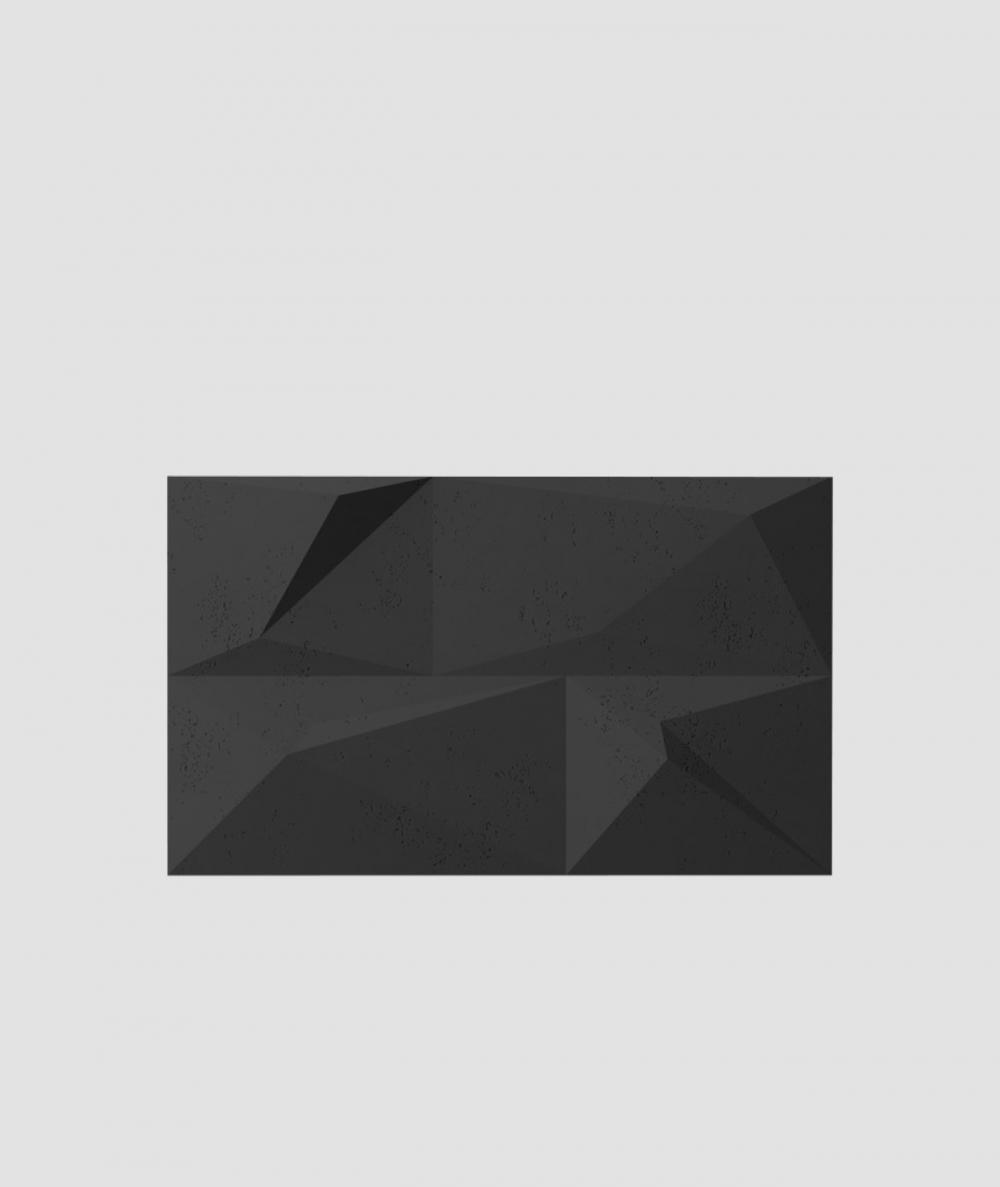 VT - PB07 (B15 czarny) KRYSZTAŁ - panel dekor 3D beton architektoniczny