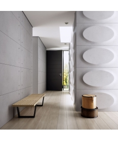 VT - PB08 (B0 white) ELLIPSE - 3D architectural concrete decor panel