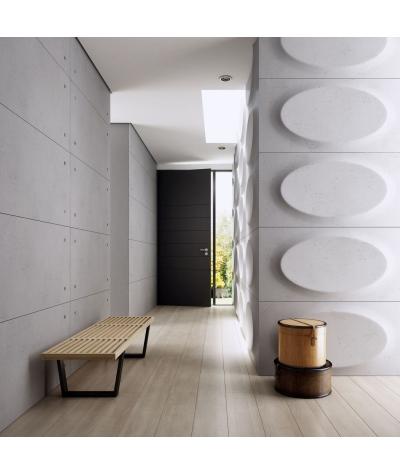 VT - PB08 (B1 siwo biały) ELIPSA - panel dekor 3D beton architektoniczny
