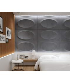 3D architectural concrete decor panel ELLIPSE - PB08 (KS ivory)
