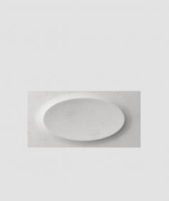 PB08 (S51 dark gray 'mouse') ELLIPSE - 3D architectural concrete decor panel